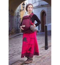 Nosidło ergonomiczne Storchenwiege BabyCarrier Bordeaux | Merinodzieciaki