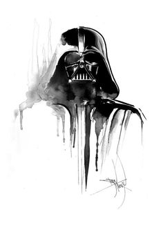 Darth Vader - therese-rosier: Original painting is reserved but you can get HQ printed copy or your own commissioned painting.Just contact me - rosiertherese@gmail.comWorldwide shippingYou can also get design for your tattoo - mail me for usage rights ! Follow me for more here : www.facebook.com/ThereseRosierArthttps://instagram.com/rosiertherese/https://twitter.com/ThereseRosier