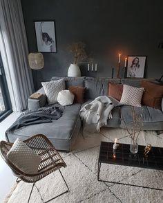 Cozy living room ideas and design 00036 ~ Home Decoration Inspiration Casual Living Rooms, Cozy Living Rooms, Home Living Room, Living Room Decor, Decor Room, Room Interior, Interior Design Living Room, Living Room Designs, Interior Livingroom