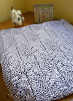 Wild Iris Blanket pattern. Lovely all over lace - 3 sizes included in pattern.