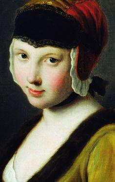 Pietro Antonio Rotari. Girl With A Black Mask, 18th Century.
