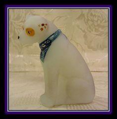 "2011 Fenton Glass 3"" Dog ""Nipper"" The RCA Dog Mascot | eBay"