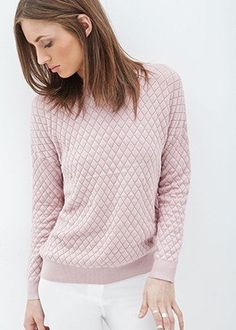 50 Quilted Fashion Finds To Take You Straight Into Fall—All Under $50! QUILTED KNIT SWEATER, $19.80, FOREVER21.COM