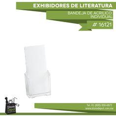 Este tipo de accesorios es ideal cuando deseas mostrar folletos o revistas de manera que no tome mucho espacio.