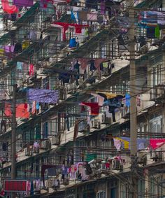 A laundry day in Hong Kong.