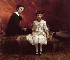 John Singer Sargent (1856-1925)  Portrait of Edouard and MarieLoise Pailleron  Oil on canvas  1881