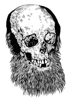 French: Beard Skull Blanket