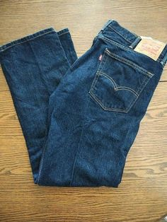 Da Uomo Run /& Fly 60 S 70 S Vintage Blu stonewash stretch Denim Slim Jeans Bootcut