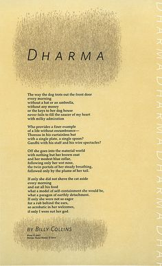 Dharma by Billy Collins