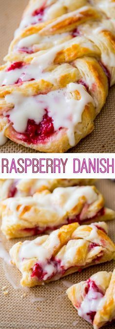 Homemade Raspberry Danish Tutorial and Recipe-- I love this flaky, buttery, fruity pastry recipe! Hot Dog Buns, Hot Dogs, Pastry Recipes, Dessert Recipes, Dry Yeast, Granulated Sugar, Danish, Raspberry, French Toast