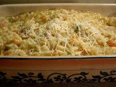 Poor Man's Risotto (Rice and Chicken No-Stir Risotto - Lidia Bastianich via Comfy Cuisine)