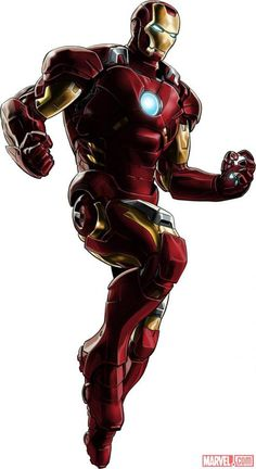 Cartoon drawing of Iron Man