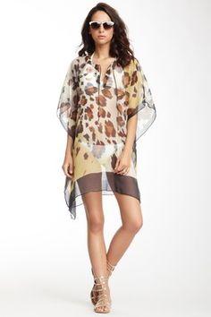 Yuka Beach Leopard Print Tunic