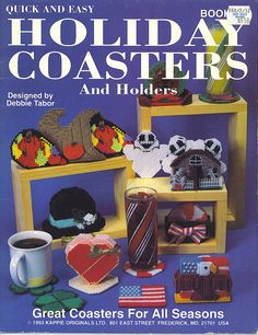 HOLIDAY COASTERS AND HOLDERS by DEBBIE TABOR *FRONT COVER*
