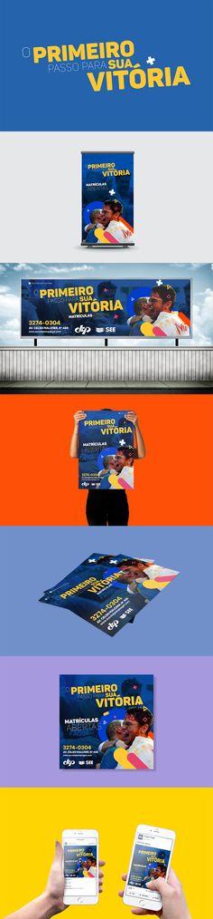 """Campanha """"Matrículas Abertas"""", escolas parceiras SEE - social media, cartaz, planfleto, flyer, shirt, banner, outdoor, publicidade, marketing"""