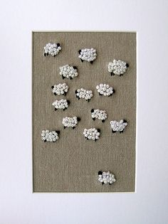 #sheep flock embroidery by incywincystitches via Flickr #handmade #craft