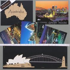 Travel Australia by KittyKatz @2peasinabucket -- I used postcards for all my night shots of the sights of Darling Harbour in Sydney, Australia because I knew that my night photography could not begin to compare!