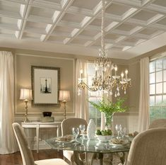 Explore the ceiling design gallery to get ideas about how you can incorporate decorative ceilings in your home. From Armstrong Ceilings.