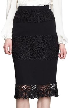 Just add lace to an existing skirt you already have!