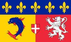 Flag of Rhône-Alpes - Regiones de Francia -