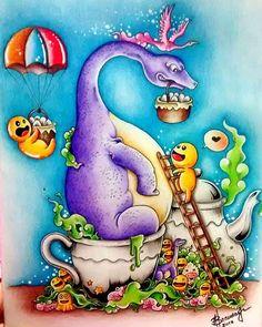 WEBSTA @ rs.branddao - Finalizado o dinossauro Doodle.#doodleinvasion #doodleinvasioncoloringbook #doodleinvasao #doodlefusion #animorphia #animorphiacolouringbook #imagimorphia #kerbyrosanes
