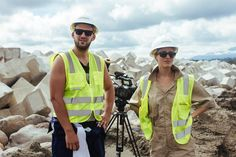 Jasyn & Anna shooting construction b-roll at APM's new terminal in Limon