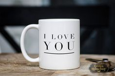 I love you coffee mug valentines day mug i love by GoldenUpcycling