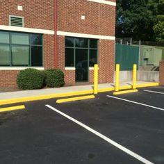 Curb Painting in Knoxville, TN Parking lot Striping  aaastripepro@gmail.com Striping, Pavement Sealant, Asphalt Seal Coat, Pigeon Forge, TN