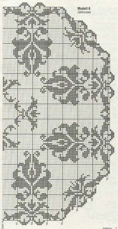 Filet crochet Doily graphs