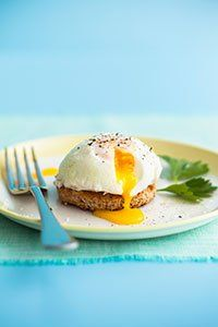<center>Poached egg on toast
