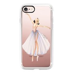 Ballet Dancer 3 (Fashion Illustration Transparent Case) - iPhone 7... ($40) ❤ liked on Polyvore featuring accessories, tech accessories, iphone case, apple iphone case, iphone cover case, iphone hard case, iphone cases and transparent iphone case