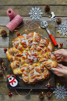 gwiazda z ciasta. gwiazda z ciasta na Święta, gwiazda z makiem, gwiazda z nutellą, gwiazda drożdżowa, ciasto na Święta, sprawdzony przepis na drożdżowe ciasto, ciasto, blog kulinarny, święta, przepisy,