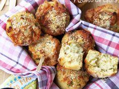 Muffins salados de jalapeños y queso de cabra, Receta por Iblacha - Petitchef