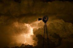 Stormy night over North Dakota