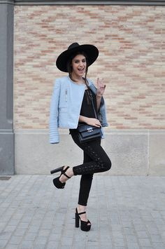 Aida Domenech mad props for the Zara moto and having some fun in Barcelona in a pose off.