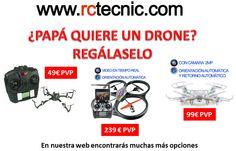 Regala un drone a tu padre..no dejes que se quede si uno ;)  #drones #díadelpadre #19Marzo #19M #regalos