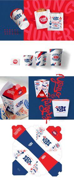 Kuba Sandwich bar / Fast food branding on Pantone Canvas Gallery food packaging Mr. Food Graphic Design, Food Logo Design, Logo Food, Brand Identity Design, Branding Design, Food Branding, Food Packaging Design, Packaging Design Inspiration, Brand Packaging