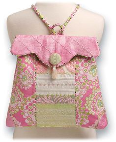 shabby chic machine embroidery designs   Posh Pink Backpack Embroidery Tutorial