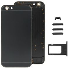 [USD23.43] [EUR21.08] [GBP16.63] iPartsBuy Full Assembly Replacement Housing Cover for iPhone 6, Including Back Cover & Card Tray & Volume Control Key & Power Button & Mute Switch Vibrator Key(Black)