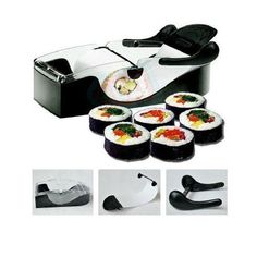 Perfect Roll DIY Easy Kitchen Magic Roller Sushi Maker Cutter Gadget Machine New Kitchen Tools, Kitchen Gadgets, Kitchen Dining, Kitchen Products, Room Kitchen, Kitchen Stuff, Cooking Gadgets, Cooking Tools, Easy Sushi Rolls