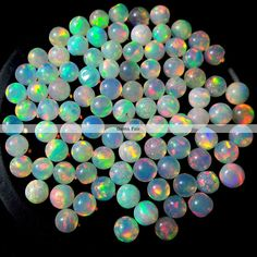 10 pieces 4mm ethiopian opal round cabochon AAA Quality