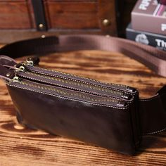 619333eb12d1 Leather Men Fanny Pack Small Waist Bag Hip Pack Belt Bag Bumbag for Me –  iwalletsmen