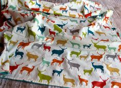 DESIGN YOUR OWN Organic Baby Blanket  Elk Family by Saravadesigns, $45.00