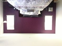 Purple and Grey Master Bedroom