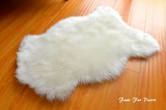 Natural sheepskin Shape Faux Fur Flokati Shaggy Area Rug Throws Accents Decors Nursery Baby Rugs