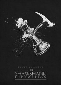 The Shawshank Redemption Movies Poster Print Old Movie Posters, Classic Movie Posters, Minimal Movie Posters, Minimal Poster, Movie Poster Art, Classic Movies, Vintage Posters, The Shawshank Redemption, Pulp