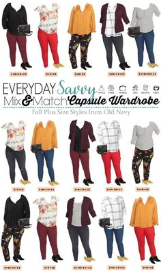 I love this new Old Navy plus size capsule wardrobe fall. It includes 15 plus size outfit ideas including colored and printed pants, fun printed tops, and even two pairs of shoes and a bag! Source by jesstagirl size fasion Outfits Plus Size, Plus Size Fall Outfit, Plus Size Fashion For Women, Womens Fashion For Work, Plus Size Women, Plus Size Fashions, Work Fashion, Fashion Shoes, Plus Size Capsule Wardrobe