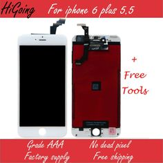(398.00$)  Watch here - http://aih7k.worlditems.win/all/product.php?id=32801879257 - 10PCS AAA Quality Complete Full LCD for iPhone 6 plus LCD Display Digitizer Replacement+Temper Glass No Dead Pixel DHL free Ship