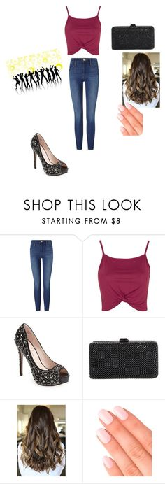 """#set3#summer 16' #partytime"" by paulamodeloguapa-1 ❤ liked on Polyvore featuring Frame Denim, Topshop, Lauren Lorraine, Sondra Roberts and Elegant Touch"