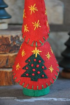 Ring in the holiday season with this sweet addition to your home. The Christmas Tree Gnome or Elf can come for a fun visit this holiday season bringing his Christmas spirit. Or perhaps he could climb into your little ones stocking for a Christmas morning surprise. The Wooden and Wool Felt Christmas Tree Gnome is a wonderful toy and would be the perfect addition to a holiday nature table. The Wooden and Wool Felt Christmas Tree Gnome is a sturdy toy perfect for all ages of children. The…